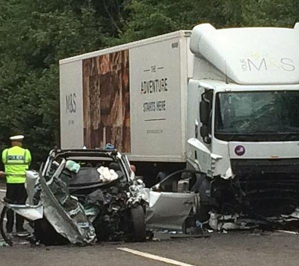 97141812 crash1 600x534 - Horrific Car Crash Kills Mother & Her Two Young Children
