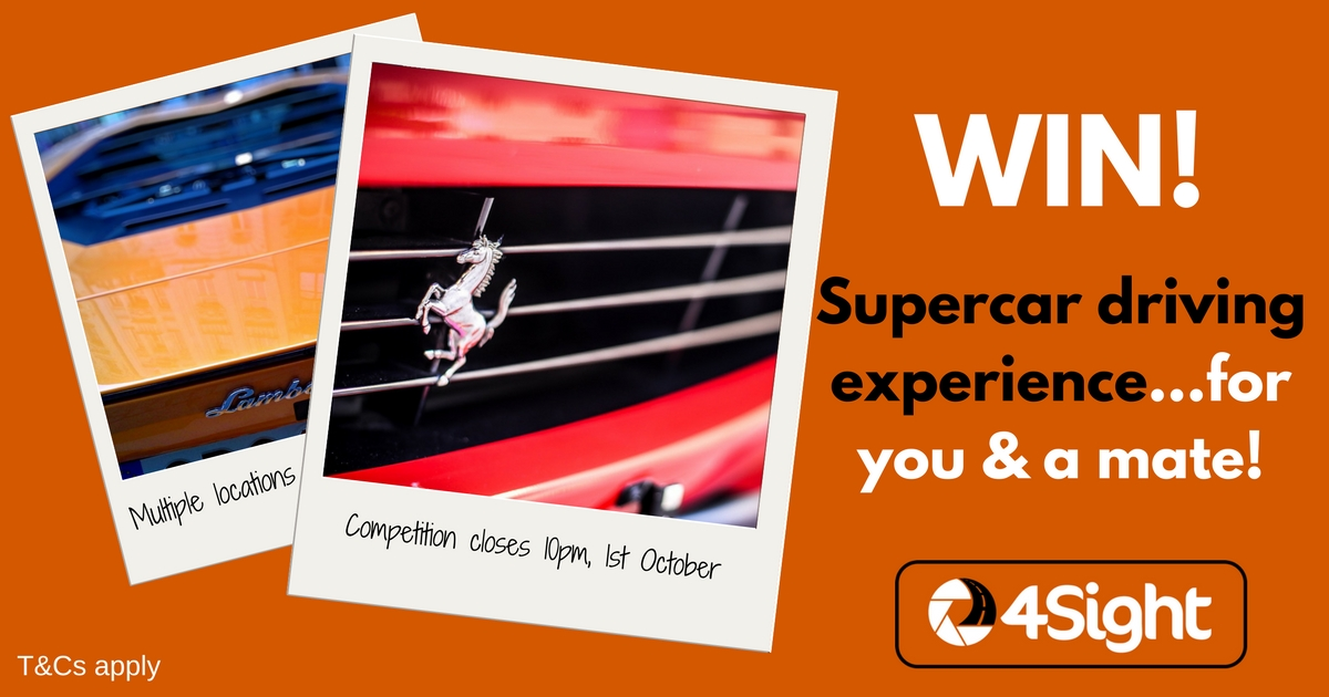WIN! A supercar driving experience - 4Sight