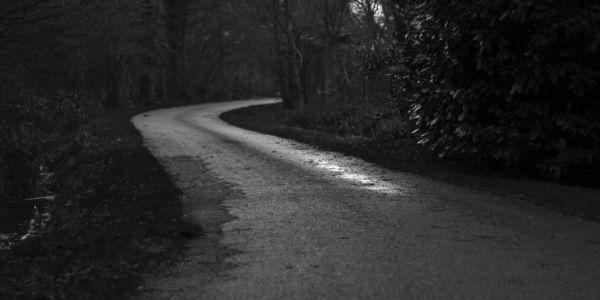 Halloween haunted road